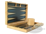 picture of 15-inch Wood Backgammon Set - Beechwood (Blue) (7 of 11)