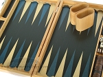 picture of 15-inch Wood Backgammon Set - Beechwood (Blue) (9 of 11)