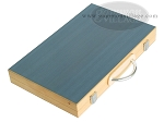 picture of 15-inch Wood Backgammon Set - Beechwood (Blue) (10 of 11)