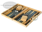picture of 15-inch Wood Backgammon Set - Beechwood (Blue) (3 of 11)