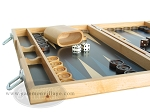 picture of 15-inch Wood Backgammon Set - Beechwood (Blue) (5 of 11)