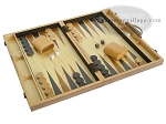 picture of 18-inch Wood Backgammon Set - Burlwood (2 of 11)