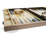 picture of 18-inch Wood Backgammon Set - Burlwood (5 of 11)