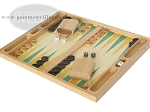 picture of 19-inch Wood Backgammon Set - Beechwood (Green/Yellow) (3 of 8)