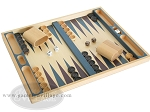 picture of 19-inch Wood Backgammon Set - Beechwood (Blue/Purple) (2 of 8)
