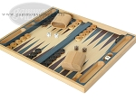 picture of 19-inch Wood Backgammon Set - Beechwood (Blue/Purple) (3 of 8)