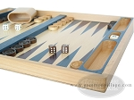 picture of 19-inch Wood Backgammon Set - Beechwood (Blue/Purple) (6 of 8)