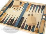 picture of 19-inch Wood Backgammon Set - Beechwood (Blue/Purple) (7 of 8)