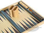 picture of 19-inch Wood Backgammon Set - Beechwood (Blue/Purple) (8 of 8)