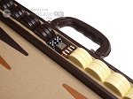 picture of Aries™ Professional Leather Backgammon Set - Brown/Beige (7 of 12)