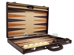 picture of Aries Professional Leather Backgammon Set - Brown/Beige (10 of 12)