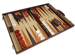 picture of Aries™ Professional Leather Backgammon Set - Brown/Beige - Elite Series (2 of 12)