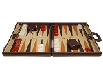 picture of Aries™ Professional Leather Backgammon Set - Brown/Beige - Elite Series (4 of 12)