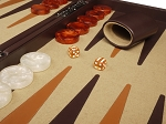 picture of Aries™ Professional Leather Backgammon Set - Brown/Beige - Elite Series (8 of 12)