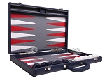 picture of Aries Professional Leather Backgammon Set - Blue/Grey (10 of 12)