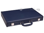 picture of Aries Professional Leather Backgammon Set - Blue/Grey (11 of 12)