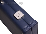 picture of Aries Professional Leather Backgammon Set - Blue/Grey (12 of 12)