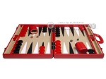 picture of Aries Professional Leather Backgammon Set - Red/Beige (4 of 12)