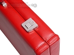 picture of Aries Professional Leather Backgammon Set - Red/Beige (12 of 12)