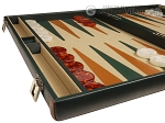 picture of Aries™ Professional Leather Backgammon Set - Green and Brown/Beige - Elite Series (5 of 12)
