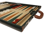 picture of Aries™ Professional Leather Backgammon Set - Green and Brown/Beige - Elite Series (6 of 12)