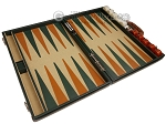 picture of Aries™ Professional Leather Backgammon Set - Green and Brown/Beige - Elite Series (9 of 12)
