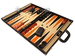 picture of Aries™ Professional Leather Backgammon Set - Black/Beige - Elite Series (3 of 12)