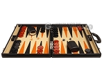 picture of Aries™ Professional Leather Backgammon Set - Black/Beige - Elite Series (4 of 12)