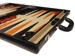 picture of Aries™ Professional Leather Backgammon Set - Black/Beige - Elite Series (6 of 12)