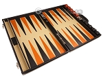 picture of Aries™ Professional Leather Backgammon Set - Black/Beige - Elite Series (9 of 12)