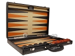 picture of Aries™ Professional Leather Backgammon Set - Black/Beige - Elite Series (10 of 12)