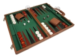 picture of 18-inch Leather Backgammon Set - Tan/Green (2 of 10)