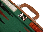 picture of 18-inch Leather Backgammon Set - Tan/Green (7 of 10)