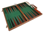 picture of 18-inch Leather Backgammon Set - Tan/Green (9 of 10)