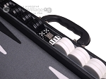 picture of Aries Professional Leather Backgammon Set - Black/Grey (7 of 12)