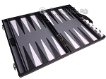 picture of Aries™ Professional Leather Backgammon Set - Black/Grey (9 of 12)
