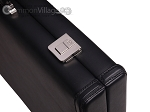 picture of Aries™ Professional Leather Backgammon Set - Black/Grey (12 of 12)