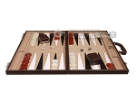 picture of 21-inch Leatherette Backgammon Set - Dark Brown/Tan (4 of 11)