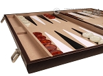 picture of 21-inch Leatherette Backgammon Set - Dark Brown/Tan (5 of 11)