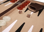 picture of 21-inch Leatherette Backgammon Set - Dark Brown/Tan (8 of 11)