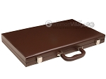 picture of 21-inch Leatherette Backgammon Set - Dark Brown/Tan (11 of 11)