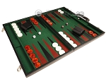picture of 21-inch Leatherette Backgammon Set - Black/Green (2 of 10)