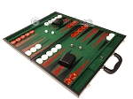 picture of 21-inch Leatherette Backgammon Set - Black/Green (3 of 10)