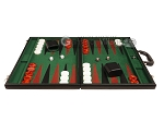picture of 21-inch Leatherette Backgammon Set - Black/Green (4 of 10)