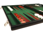 picture of 21-inch Leatherette Backgammon Set - Black/Green (5 of 10)