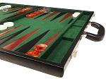 picture of 21-inch Leatherette Backgammon Set - Black/Green (6 of 10)