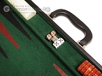 picture of 21-inch Leatherette Backgammon Set - Black/Green (7 of 10)