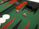 picture of 21-inch Leatherette Backgammon Set - Black/Green (8 of 10)