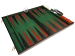picture of 21-inch Leatherette Backgammon Set - Black/Green (9 of 10)