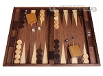 19-inch Wood Backgammon Set - Walnut Inlay - Item: 1671